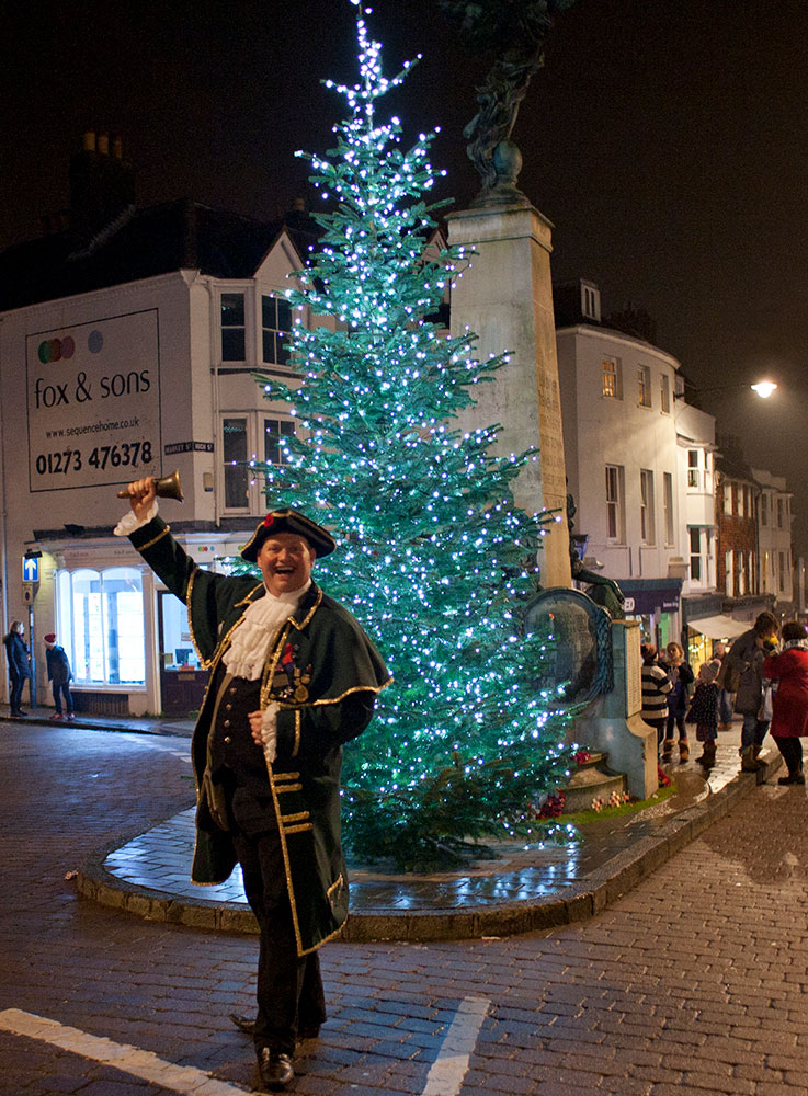 Lewes Town Crier at Late Night Shopping